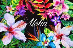 Aloha - tropical flowers kit. by RosaPompelmo on @creativemarket