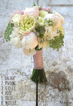 Bouquet de mariee rose - La mariee aux pieds nus
