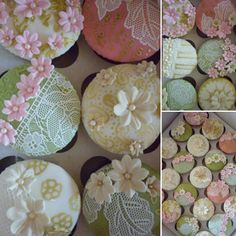 Edible lace and flowers are so pretty!