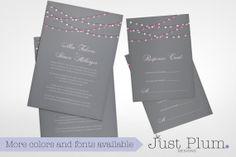 Lovelights Printable Wedding Invitation Suite by JustPlumDesigns, $50.00