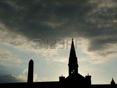 Bell tower of Santa Maria Novella at sunset, Florence, Italy