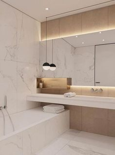 Modern Scandinavian Bathroom Interior In White Options Now there are lots of design solutions in the plan of apartments and houses. Bathroom Design Inspiration, Bad Inspiration, Design Ideas, Design Design, Dream Bathrooms, Small Bathroom, Bathroom Marble, Cool Bathroom Ideas, Bathroom Store