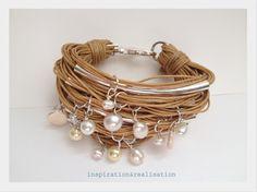 inspiration and realisation: DIY fashion blog: DIY cord, tubes and pearls bracelet