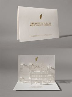 Event Invitation Designs to Impress Your Guests nike-run 20 Event Invitation Designs to Impress Your Guests nike-run Watercolor World Map Business Card Corporate Identity Template Check out Gold Foil Flower Place Cards from BHLDN Escort Place Card Event Invitation Design, Pop Up Invitation, Wedding Invitation Inspiration, Luxury Wedding Invitations, Wedding Invitation Cards, Wedding Stationery, Print Invitations, Fashion Invitation, Wedding Inspiration