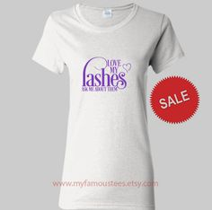 Love my lashes Purple Design Ladies Heavy Cotton by myfamoustees