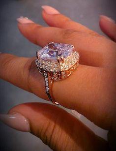 Huge pink diamond ring