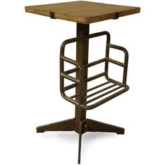 Noir News Stand Table ($594) ❤ liked on Polyvore featuring home, furniture, tables, accent tables, industrial shelving, industrial end table, industrial shelf, industrial side table and square shelving