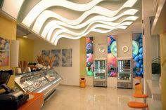 Il Gelato Perrucci, bar-gelateria di Cerignola Gelato, Lighting, Home Decor, Ice Cream, Decoration Home, Light Fixtures, Room Decor, Lights, Interior Design