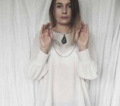 pendant necklace aventurine necklace delicate pendant by MARIAELA