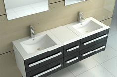 meubles salle de bain double vasque en pierre - Recherche Google