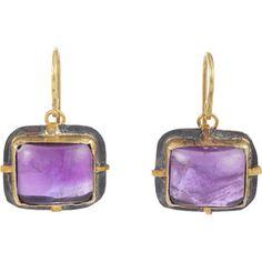 Judy Geib Amethyst Drop Earrings