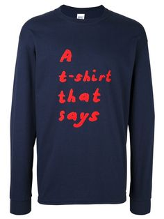 """Tom Polo sweat """"A T-shirt That Says"""""""