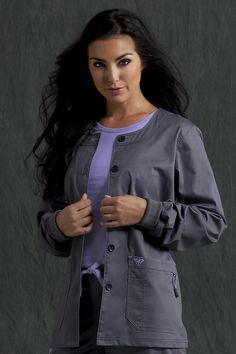 Med Couture Solid Warm-Up Jacket Medical Scrubs, Nursing Scrubs, Med Couture Scrubs, Uniform Advantage, Dental Assistant Jobs, Scrub Jackets, Womens Scrubs, Denim Crafts, Scrub Pants