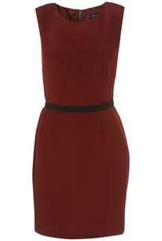 Wine Coloured Shift Dress