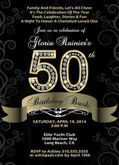 50th Birthday Bash  Custom Designed by BrooklynDesignStudio, $15.00