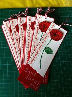 Bookmark. Punt de llibre per Sant Jordi