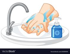 Hand cleaning on white background vector image on VectorStock Creative Poster Design, Creative Posters, Backgrounds Free, Flower Backgrounds, Antiseptic Soap, Laundry Icons, Hand Washing Poster, Educational Activities For Preschoolers, School Border