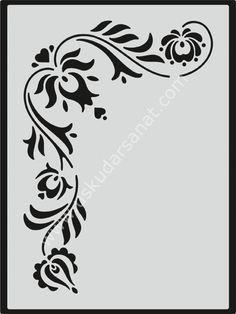 www.uskudarsanat.com Mood-Stencil-Sablon-15X17-M092,PR-6435.html Stencil Templates, Stencil Patterns, Stencil Painting, Stencil Designs, Embroidery Patterns, Tribal Rose, Cookbook Design, Kerala Mural Painting, Hd Cool Wallpapers