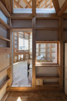This Japanese house has a highly irregular layout, with split levels, double- and triple-height spaces,