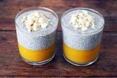 50 most healthy and delicious Chia Seed Pudding you should taste. Make your breakfast healthier with these chia seed pudding recipes. Vegan Desserts, Raw Food Recipes, Healthy Recipes, Chia Puding, Pudding Recipes, Healthy Treats, Healthy Lunches, Breakfast Recipes, Chia Pudding Breakfast