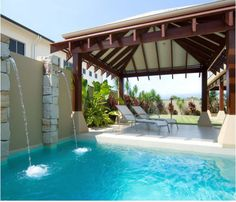 Pool Pergola with Swimming Pool  #pergola #gazebo #garden #outdoors #patio #pool #homedecor #gardenideas #poolpergola
