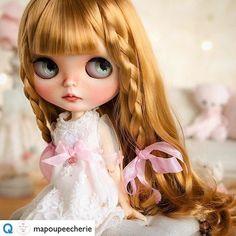Cutie of the Day by @mapoupeecherie Check profile: http://ift.tt/2ocfJPw #blythe #dollycustom #blythecustom #blythecustomizer #ooakblythe #customblythe #kawaii #doll #artdoll #dollstagram #blythestagram #blythelover #ブライス