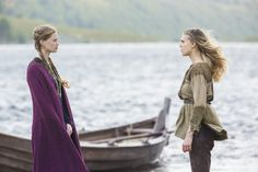 Still of Alyssa Sutherland and Gaia Weiss in Vikings (2013)
