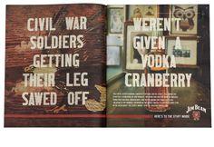 civil war soldiers getting their leg sawed off weren't given a vodka cranberry.