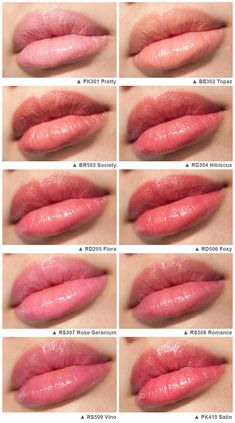 shiseido-perfect-rouge-tender-sheer-swatches