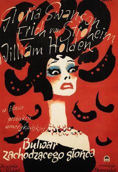 Sunset Boulevard - Polish poster