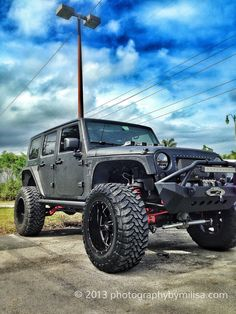 Lifted JEEP Wrangler - All-GREY  _____________________________ Reposted by Dr. Veronica Lee, DNP (Depew/Buffalo, NY, US)