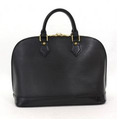 Louis Vuitton Black Epi Leather Alma Hand Bag