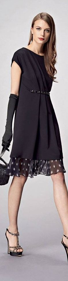 black dress @roressclothes closet ideas #women fashion outfit #clothing style apparel Anna Rachele FW 2015/16: