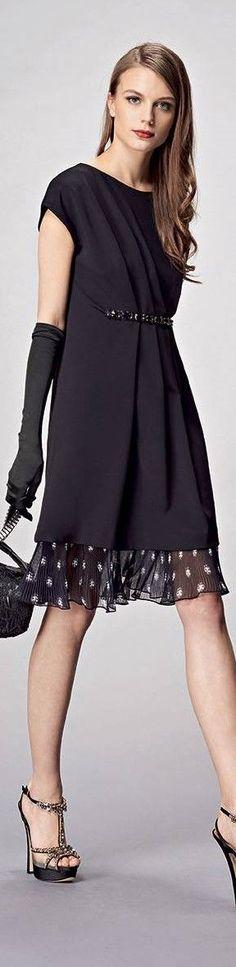 black dress @roressclothes closet ideas #women fashion outfit #clothing style apparel Anna Rachele FW 2015/16: