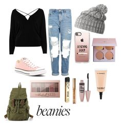 """""""New year new me"""" by kenzie4ever11 on Polyvore featuring Helly Hansen, River Island, Topshop, Converse, Casetify, Maybelline, Kylie Cosmetics and MAC Cosmetics"""