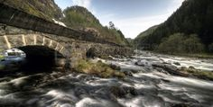 River and old bridge in Norway