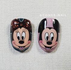Mickey Mouse Nails, Nail Drawing, Nail Art For Kids, Subtle Nails, Cat Nails, Best Acrylic Nails, Nailart, Toe Nail Art, Disney Art