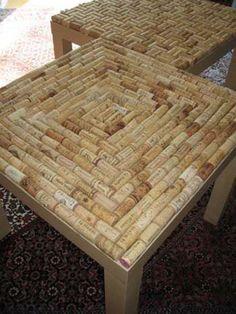 Manualidades con tapones de corcho: muebles