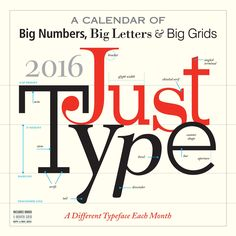 Just Type 2016 Wall Calendar Calendar  by Workman Publishing