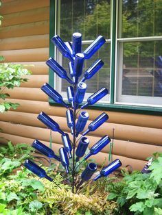 CHRISTMAS PINE bottle tree 6ft 24 branch by BigCountryIronWorks, $85.50