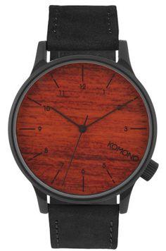 Komono-montre-winston-Black-wood-montre-bracelet-kom-w2020