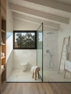 Is your home in need of a bathroom remodel? Give your bathroom design a boost with a little planning and our inspirational bathroom remodel ideas Bad Inspiration, Bathroom Inspiration, Furniture Inspiration, Interior Inspiration, Furniture Ideas, Casa Loft, Interior Minimalista, Spanish House, Stone Houses
