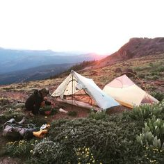 "camptrend: "" A campspot along the Pacific Crest Trail between Tinker Knob & Donner Pass. check out the full photo + story on camp trend """