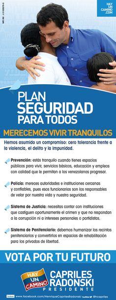 Queremos una Venezuela en la que la vida valga todo, para ello tenemos nuestro Plan #SeguridadParaTodos
