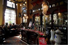 St. Stephen's Tavern, London ~ across from Big Ben . . . it is a lovely place!
