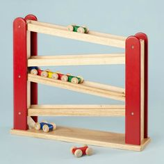 Doesn't this Fast Track from Land of Nod look like it came straight out of Santa's Workshop?