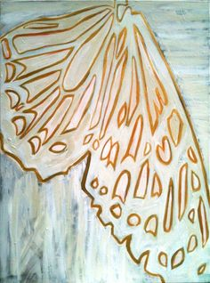 LARGE ORIGINAL Painting butterfly wing,