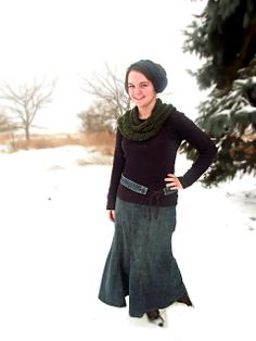 Cover Up For Christ ♥ Modest Fashion Blog (Modesty Blog): First Snowfall - In Denim