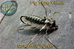 Dragon fly nymph fly tying instructions by Ruben Martin