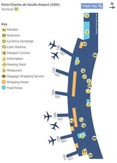 Paris Charles de Gaulle Airport Terminal 2c Map